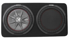 "Kicker 43TCWRT122 COMPRT12 12"" 1000 Watt Shallow Car Subwoofer+Sub Box Enclosure"