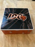"""2019 Chicago Bears STH LTD Tin 100 Years  12"""" X 12"""" (No Bobble heads Tin Only)"""