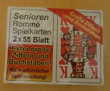 Senioren Romme, Kartenspiel, 2x 55 Blatt, Canasta, extra große Zahlen u. Buchsta