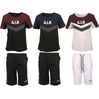 Kids Boys T Shirt Shorts Air Contrast Tracksuit Top Summer Jogger Short Set Age