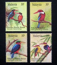 MALAYSIA 1993. Complete issue of 4 birds / kingfishers. Mint NH