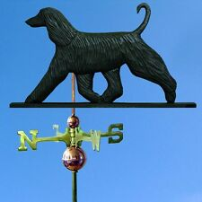 Afghan Hand Carved Hand Painted Basswood Weathervane Black