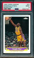 1999-00 PSA 9 MINT Shaquille O'Neal Refractor Topps Chrome Los Angeles Lakers 23