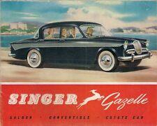 Singer Gazelle Series IIIB 1960-61 UK Market Smaller Format Sales Brochure