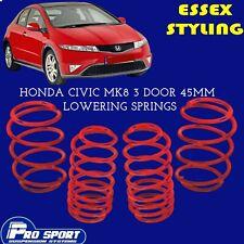 ProSport Lowering Springs for Honda Civic Mk8 3-Door New In 121586