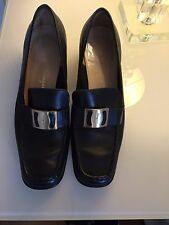 Salvatore Ferragamo Black Loafer Shoes Sz UK 6.5 EU 39.5