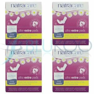 Natracare Ultra Extra Pads With Wings Long - 8 Pads (Pack of 4)