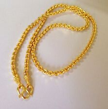 Gold Plated Necklace Men Women Thai Baht Amulet Buddha Pendant Chain 23k 24k 25'