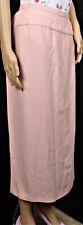 HARVÉ BENARD size 8P pink maxi skirt slim-line 100% polyester dry clean only