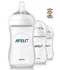 Avent Natural Feeding Bottle, New Design, 9 oz, 3 pack, BPA Free