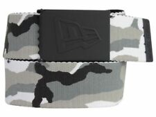 New Era Men's Rubberized Buckle Snow Camo Military-Style Web Belt