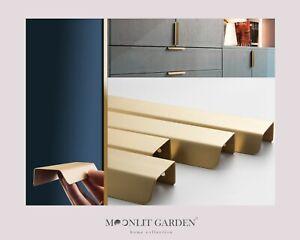 Brushed Brass Copper Cabinet Handles Kitchen Drawer Cupboard Pulls 116mm/180mm