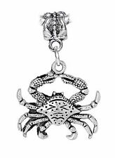 Crab Beach Sea Life Animal Ocean Seafood Dangle Charm for European Bead Bracelet