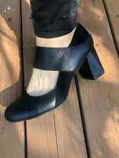 $125 Born Motola F28303 womens ladies Mary Janes black pumps heels 10 10.5