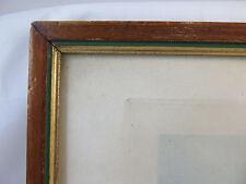 ANTICA CORNICE IN LEGNO 28,5x20 cm CON STAMPA CACCIA ALLA VOLPE OMAGGIO G35