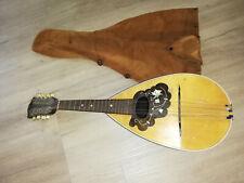 alte Mandoline Lyrastern antik zupfinstrument Rundbauch