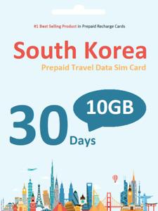 South Korea Travel - 30 days 10GB data SIM card 4G/LTE SK Telecom network