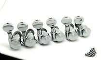 6-in-line Auto Lock 6R Guitar locking Tuning Pegs tuners Machine Heads Chrome