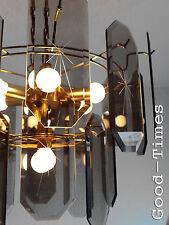 Top Große Rauchglas Scheiben Hängelampe 70er 80er Lampe  Deckenlampe Lounge