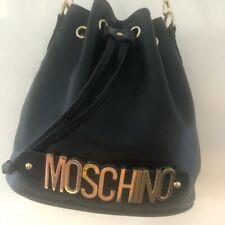 Ladies Moschino Style Large Bucket Bag Shoulder Bag Fab