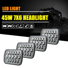 "4PCS 7x6"" LED Sealed Headlights For International Harvester 4700 4800 4900 8100"