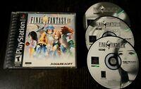 Final Fantasy 9 IX PS1 (PlayStation 1, 2000) Black Label Disc 2 3 4