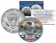 WORLD'S FAIR 50th Anniversary NEW YORK 1964-2014 Unisphere JFK Half Dollar Coin