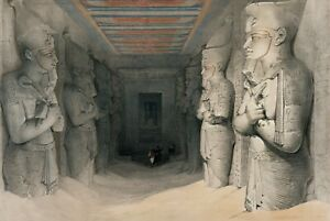 "David Roberts : ""Interior of the Temple of Abu Simbel"" — Giclee Fine Art Print"
