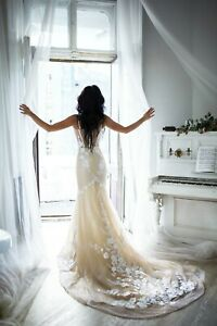 Alternative wedding dress Mermaid gown Bohemian wedding dress Unique wedding