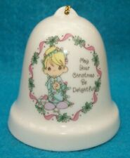 1194 Precious Moments Porcelain Christmas Bell Ornament Enesco B3