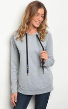 NWT Large Women's Long Sleeve Hoodie Sweatshirt Blouse Top Boutique