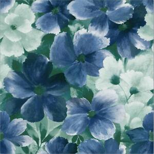 G10110 - Grace & Gardenia - Vivid Blue Blooms Wallpaper