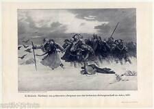 Geblendete Bulgaren im Jahre 1001 - Holzstich nach E. Holárek um 1895