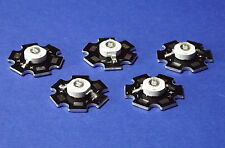 5 X  3W 365nm UV POWER  LED on HEATSINK Kühlkörper Emitter  Ultra Violet 5mm