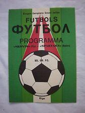 Orig.PRG   Champions League  1993/94   SKONTO RIGA - SPARTAK MOSKAU  !!  SELTEN