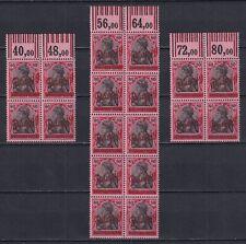 DANZIG GERMANY 1920, Mi# 40, blocks, with margins, CV €180, MNH