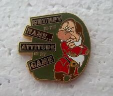 *~* DISNEY DWARF GRUMPY IS MY NAME JERRY LEIGH SNOW WHITE PIN *~*