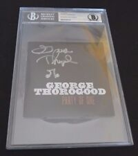 George Thorogood Autographed Signed CD Cover W/ Music Note Beckett Certified