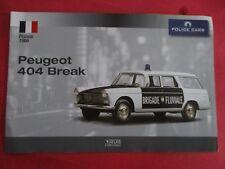 Fascicule  PEUGEOT REF/404 BRIGADE FLUVIALE  DE CHEZ ATLAS NEUF 1966 ANS