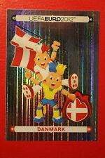 Panini EURO 2012 N. 194 DANMARK MASCOTTE NEW With BLACK BACK TOPMINT!!