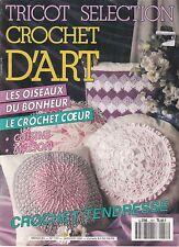 TRICOT SELECTION - CROCHET D'ART N°157 JANVIER 1991 MAGAZINE REVUE TBE
