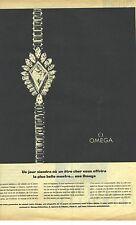 PUBLICITE ADVERTISING  1964  OMEGA la montre or et diamants joaillerie de luxe