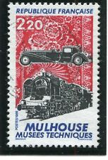 STAMP / TIMBRE FRANCE OBLITERE N° 2450 AUTOMOBILE LOCOMOTIVE