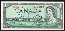 CANADA 1 DÓLAR AÑO 1954 (1973/74)  Pick # 75d  EBC  XF