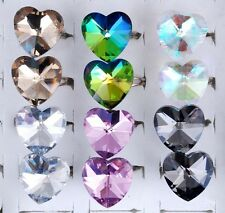 CRYSTAL GLASS HEART RING
