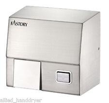 FastDry HK1800SS (110V/120V) Push Button Stainless Steel Hand Dryer w/ Wall Plug