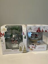 NEW Disney Store 2019 MICKEY AND MINNIE MOUSE HOLIDAY SNOWGLOBE AND ORNAMENT!