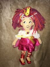 "18"" tall Fancy Nancy Plush Doll Backpack Straps To Carry Yarn Hair Dress #9"