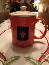 VINTAGE 3-D UNIVERSITY FLORIDA GATORS 12OZ. COFFEE/TEA MUG/CUP WITH LID VGUC