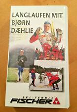 Ski Langlaufen mit Björn Daehlie von Fischer Ski  VHS Kassette   wie neu!